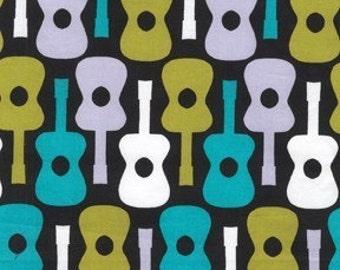 Michael Miller Fabric - Half Yard Lagoon Groovy Guitar