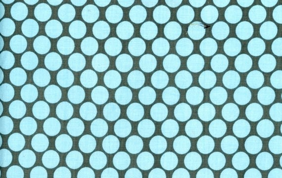 Amy Butler Fabric Full Moon Polka Dot in Slate - 1 Yard