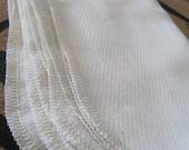 Cotton Birdseye UNpaper Towels by the Dozen - Unbleached Cotton