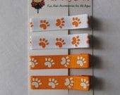 Clemson Auburn - Orange Tiger Paw Clippie Set - Etsykids Team