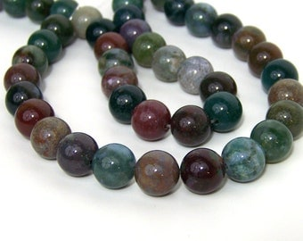 Fancy Jasper beads, 12mm round gemstone bead, FULL STRAND (562S)