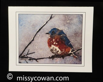 BLUEBIRD NOTE CARDS, Set of 5