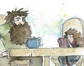 Harry Potter Fan Art - Tea and Rock Cakes