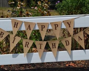Happy Birthday Banner - Birthday Party  Banner - Birthday Party sign - Adult Birthday - Boy Birthday