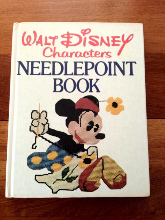 Walt Disney Characters Needlepoint Book by Lisbeth Perrone, 1976