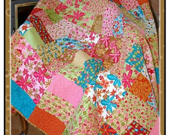 PDF Quilt Pattern Bouquet of Patchwork layer cake and charm friendly