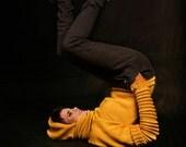 Bug inspired yellow sweater