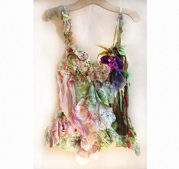 Reserved for Margie Second Payment Beautiful Artistic Tunic  FOREST  Romantic  Hippi Girls Boho Wilde Ethno Rustic Country