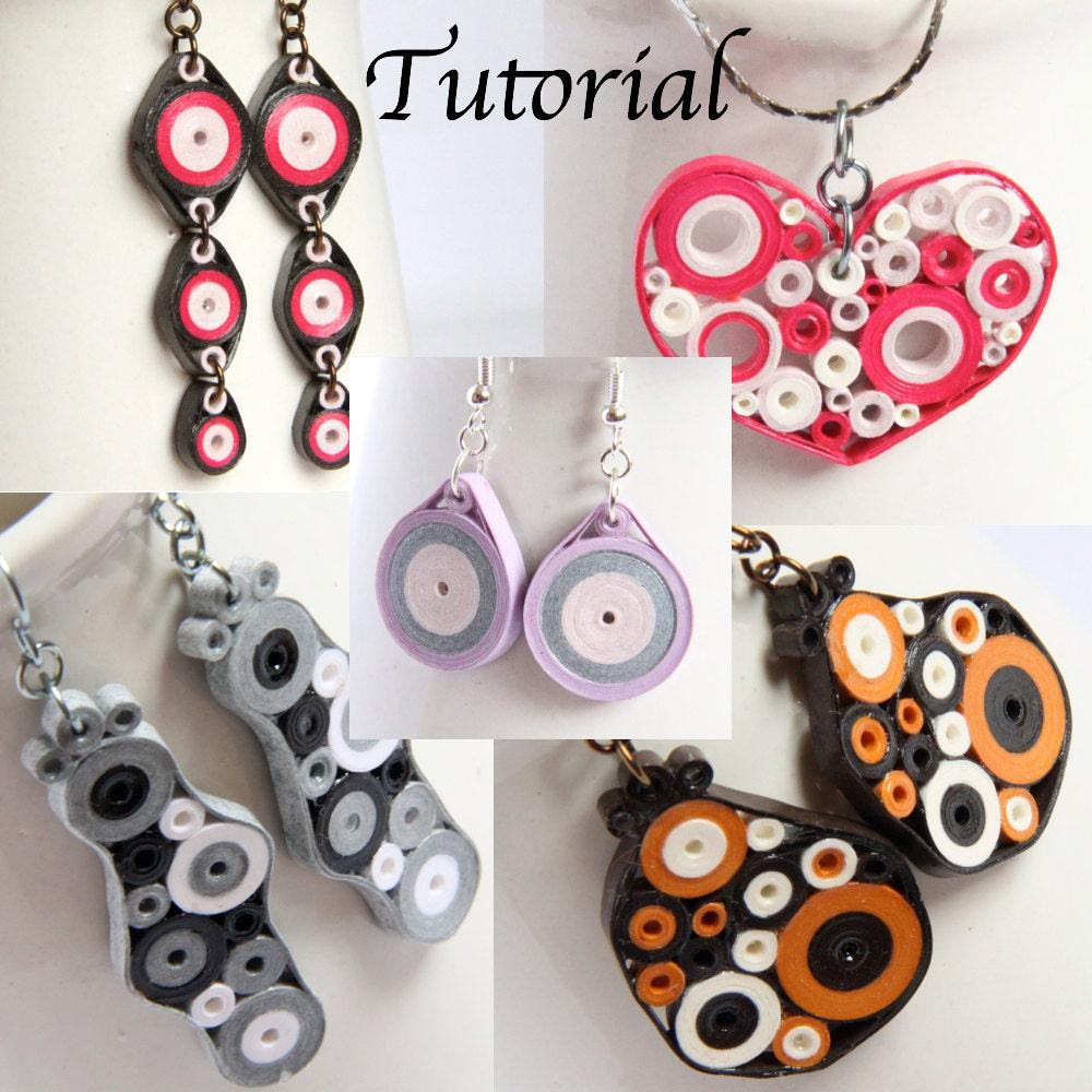 paper earrings handmade paper jewellery tutorial - photo #22