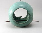 Ceramic Bird Feeder, Pott...
