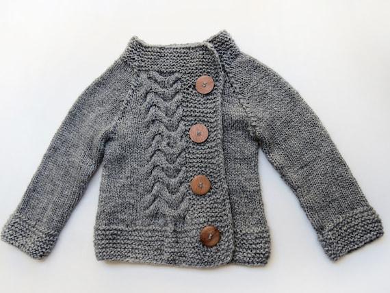 STYLISH GRAY unisex sweater 3-4 years