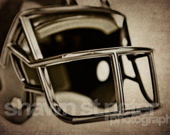 Vintage Football Helmet Black, Photo Print, Decorating Ideas, Wall Decor, Wall Art,  Kids Room, Nursery Ideas, Gift Ideas,