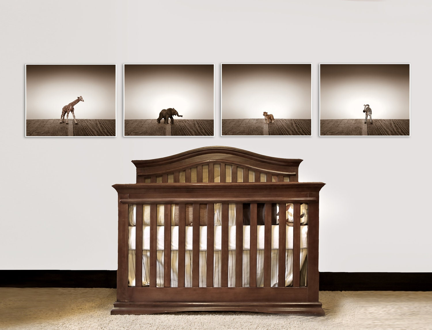 Safari Wall Art nursery decor baby animal art baby room ideas safari