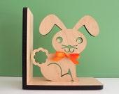 Bunny Wood Bookend- Modern Baby Nursery Children