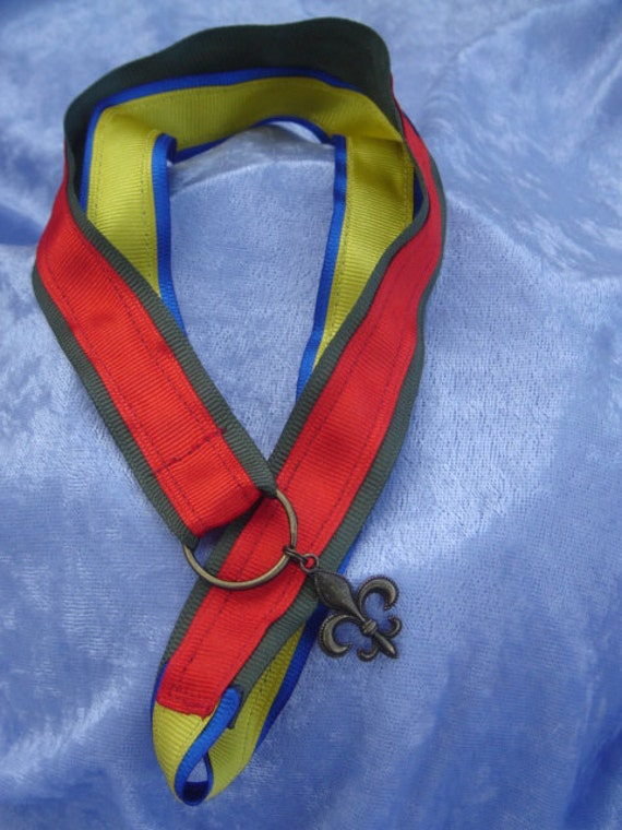 Mother's Pin Brag Ribbon Necklace Lanyard to display mothers parents caregiver Cub Scouts and Boy Scouts Pins Proud Parents Brag Ribbon