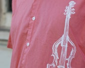 Large UpCycled Men's Viola Graphic S/S Button-Up