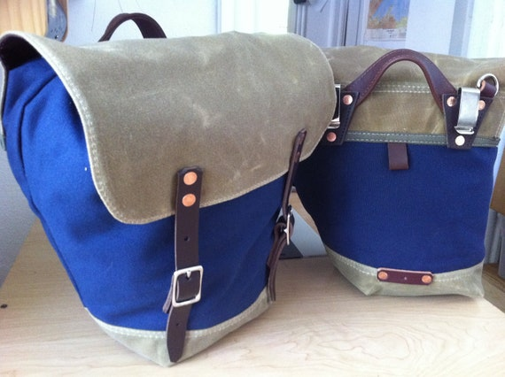Classic Panniers with Shoulder Strap and Interior Pocket