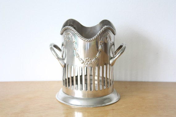 Vintage Silver Plated Wine Coaster