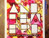 Andrew Bird screen-printed show poster