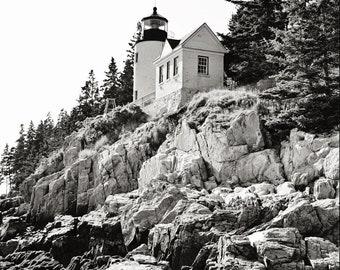 Bass Harbor Lighthouse II Black & White