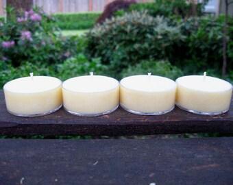 Warm Vanilla Sugar Soy Tea Light Candles