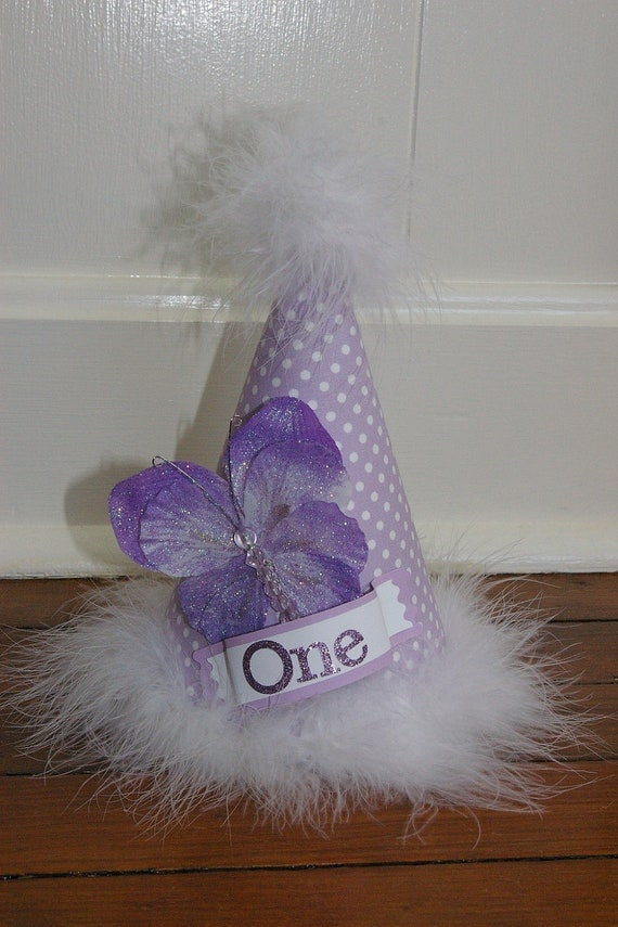 Girls 1st Birthday Hat / Photo Prop / Table Topper