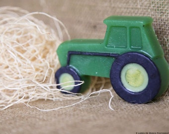 Tractor Soap, All Natural Soap, Lime Scented, 3.4 oz. FREE SHIPPING by green bubble gorgeous on etsy