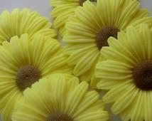 70 Sunflower Soap - baby shower favor, wedding favor, bridal shower favor