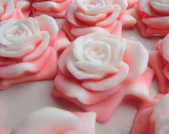 40 rose soap favors - rose bridal shower favors - flower wedding favors - rose baptism favors - garden birthday favors - rose shower favors