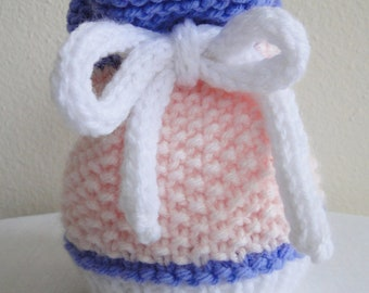 Knit Baby Sack Hat