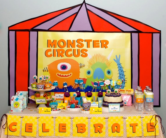 20 DOLLARS OFF Monster Value Package from the Monster Fest DIY Printable Birthday Party Collection by Spaceships and Laser Beams