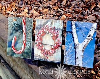 Holiday Decoration - Hostess gift - JOY - Alphabet Photography - set of three 4x6 photos-UNFRAMED
