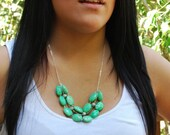 Polished Green Stone Necklace