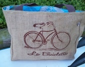 Original Bicycle Eco-Friendly Market Tote Bag, Handmade from a Recycled Coffee Sack
