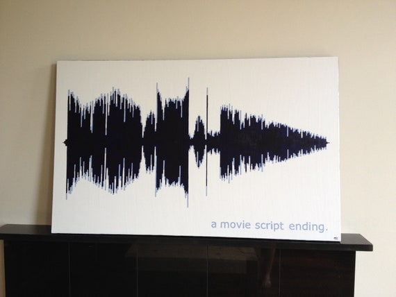 items similar to sound wave painting on etsy. Black Bedroom Furniture Sets. Home Design Ideas