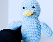 50% off // SALE // Early - The Amigurumi Blue Bird