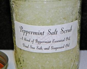 Peppermint Dead Sea Salt Scrub - 8 oz.