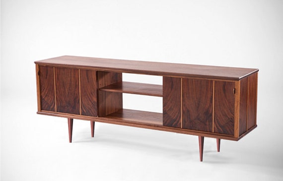 Mid century modern console sarajane console - Moderne consoles ...