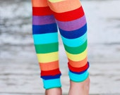 Leg Warmers - Rainbow Stripes