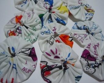 Robert Kaufman Fabric print Yo Yos for crafting, jewelry making
