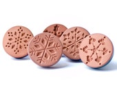 Christmas In July - Starburst Snowflake Ceramic Cookie and Clay Stamp