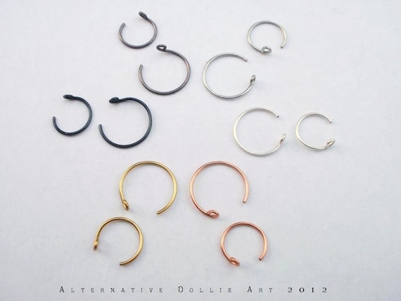 Nose Rings --- Hoops with Stopper --- Choose your Size and Color --- 20ga