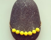 Lucky number Seven Yellow necklace.