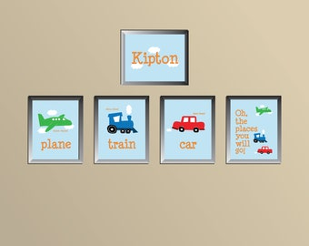 Planes, Trains, and Cars Prints