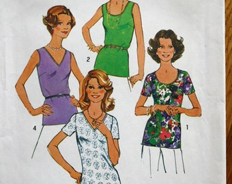 Simplicity 7911 Misses Tops and Shirts Vintage Sewing Pattern