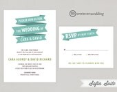Sofia Banner Illustration Printable Digital Wedding Invitation