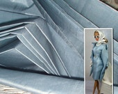 "Peace silk fabric. Ahimsa silk. Pure silk. Handwoven. Slow fashion. Natural, organic, fairtrade fabric. 42"" / 106 cm wide. Fog Blue color."