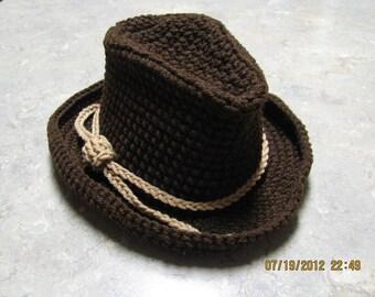 Cowboy Hat - newborn/toddler size