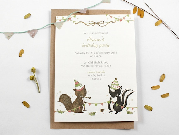10 Personalized Invitations - Awesome Party