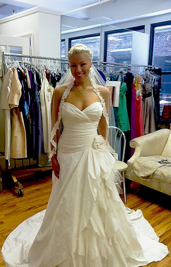 Silk Shantung Wedding Gown